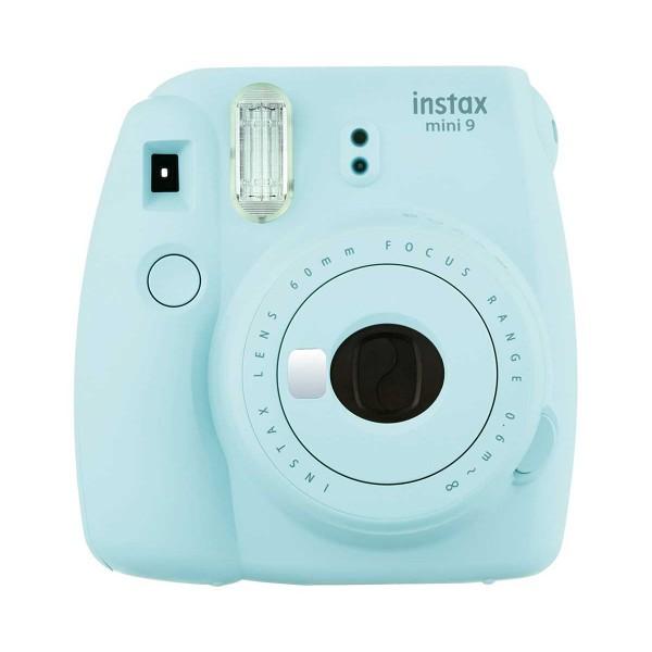 Fujifilm instax mini 9 azul hielo cámara instantánea con flash