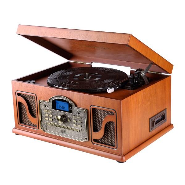 Lauson cl146 tocadiscos cd/mp3 con bluetooth y grabación a usb