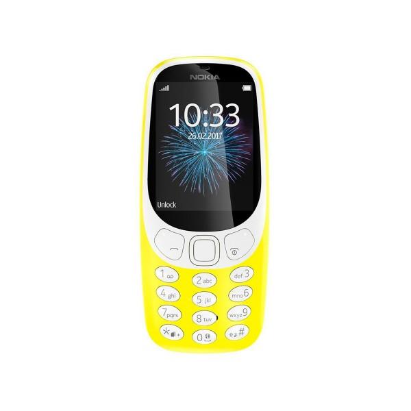 Nokia 3310 (2017) amarillo móvil senior dual sim 2.4'' cámara 2mp bluetooth radio fm microsd