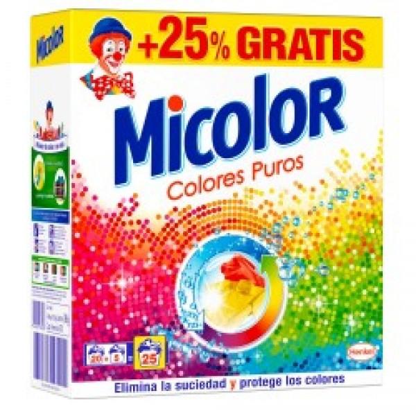 Micolor detergente maleta 20+5 colores puros