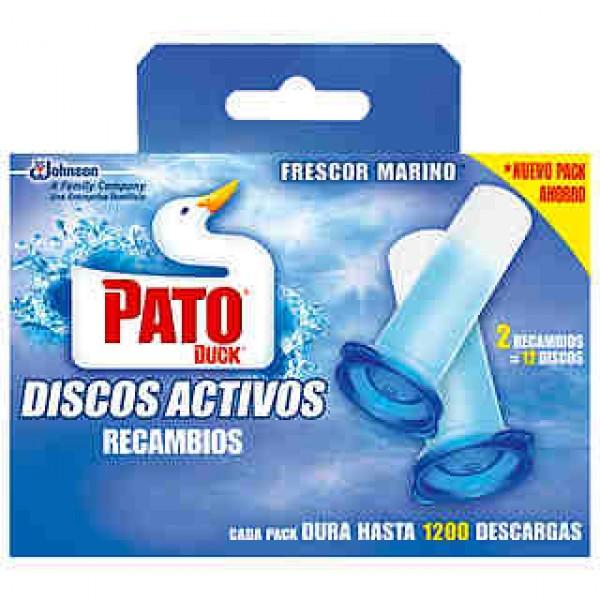Pato WC discos activos 5 en 1 marine recambio caja 2u.
