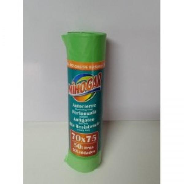 Mihogar bolsa basura perfumada 70x75 50l verde