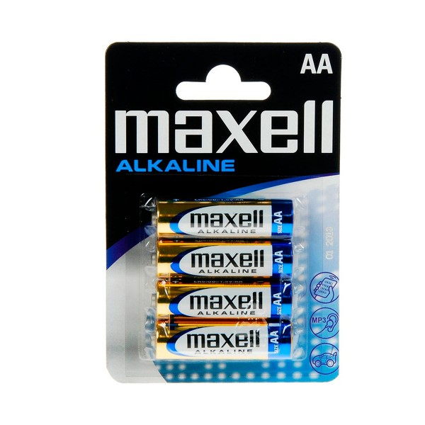 Maxell pila alcalina lr06 aa 1.5v blister de 4 unidades