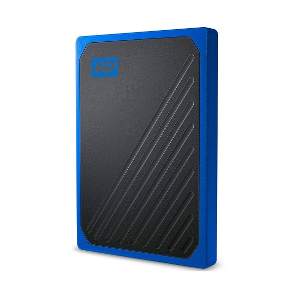 Western digital wdbmcg5000abt-wesn negro azul disco duro my passport go externo ssd portátil de 500gb