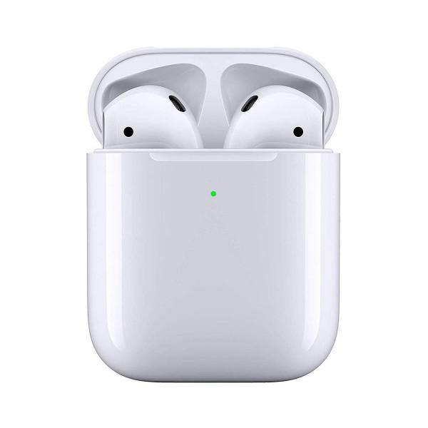 Apple airpods mrxj2zm/a con estuche de carga inalámbrica auriculares inalámbricos de alta calidad acceso directo a siri para iphone ipad e ipod