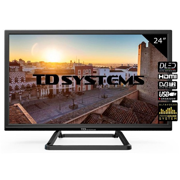Td systems k24dlm10h televisor 24'' lcd direct led hd ready hdmi usb ci+ dolby digital plus