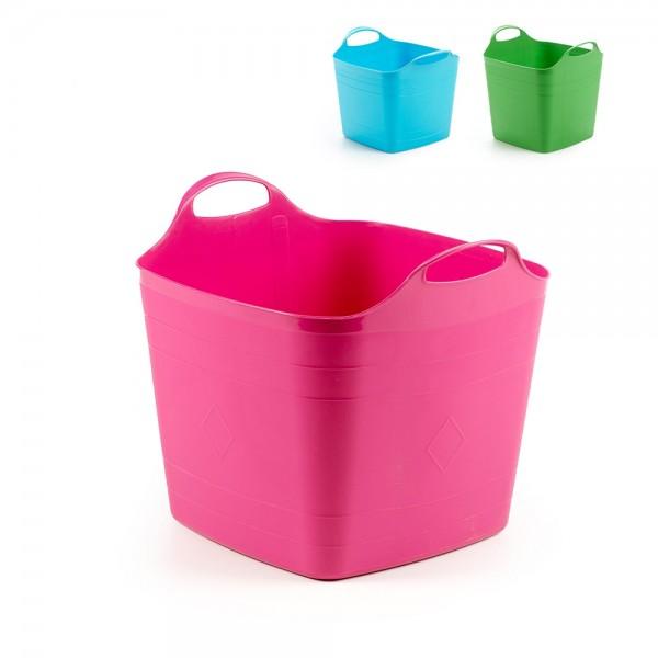 cubo 40l. cesto flexible multiuso colores surtidos ipae pro garden